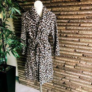 Plush Leopard Print Cozy Robe